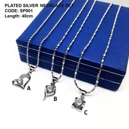 24K 电镀银项链吊坠配套 24K PLATED SILVER NECKLACE SET WITH PENDANT