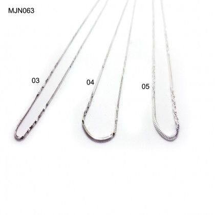 925 STERLING SILVER NECKLACE(RANTAI SILVER )纯银项链