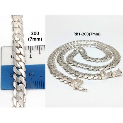 925 STERLING BANGLE SILVER NECKLACE(RANTAI BANGLE)