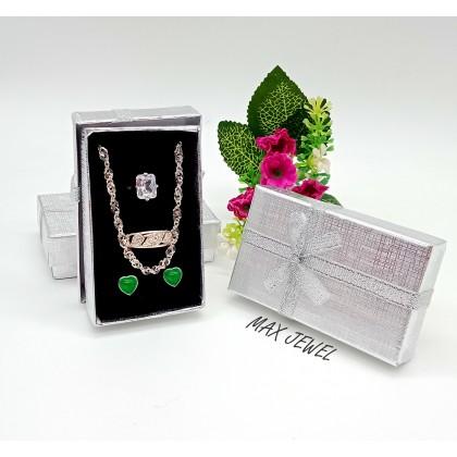 KOTAK RANTAI LEHER / NECLACE BOX SILVER