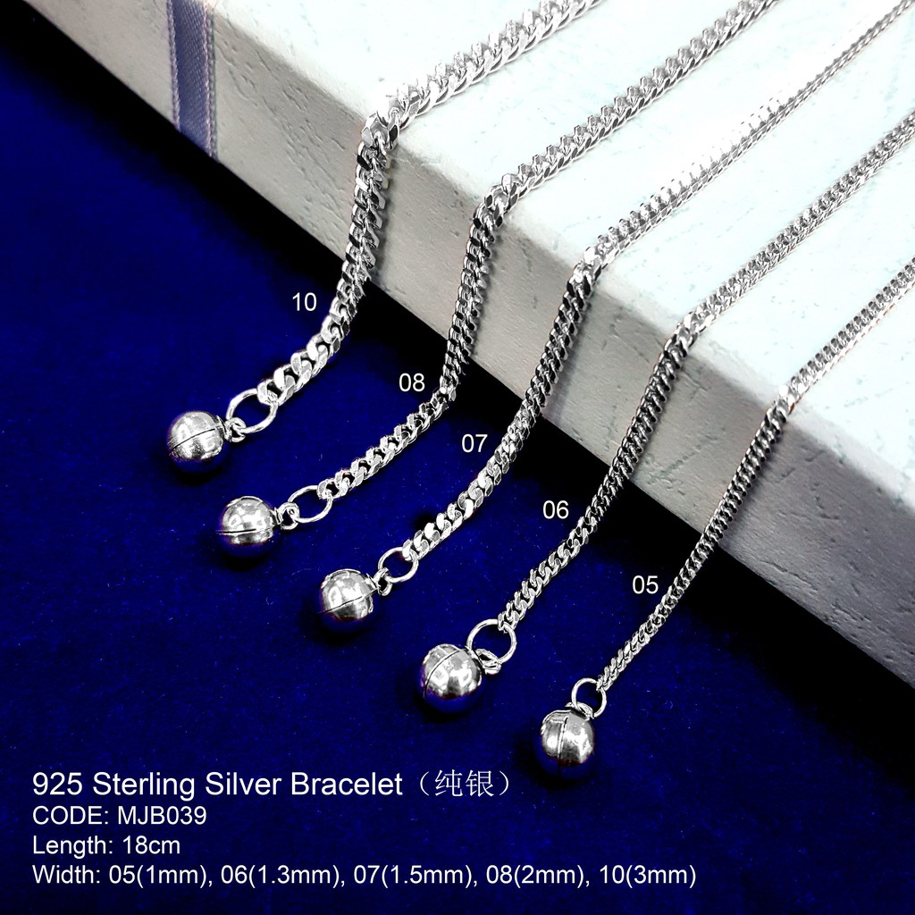 纯银手链 925 STERLING SILVER BRACELET(GELANG TANGAN SILVER )